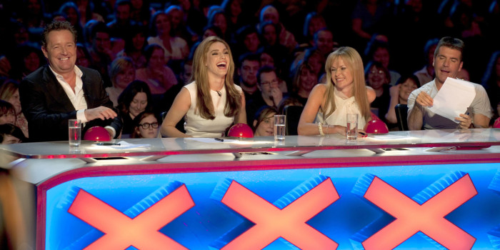 EDITORIAL USE ONLY / NO MERCHANDISING / NO BOOK PUBLISHING Mandatory Credit: Photo by Ken McKay/REX Shutterstock (913802bb) Judges, Piers Morgan, Kelly Brook, Amanda Holden, Simon Cowell 'Britain's Got Talent' TV - April - 2009